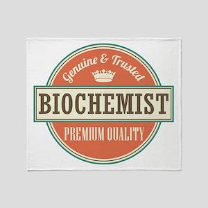 Biochemist vintage job Throw Blanket