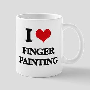 finger painting Mugs
