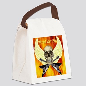 Metal For Life Canvas Lunch Bag