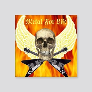 """Metal For Life Square Sticker 3"""" x 3"""""""
