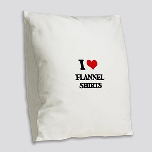 flannel shirts Burlap Throw Pillow