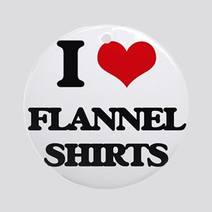 flannel shirts Ornament (Round)