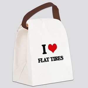 flat tires Canvas Lunch Bag