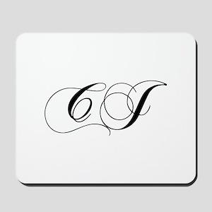 CJ-cho black Mousepad