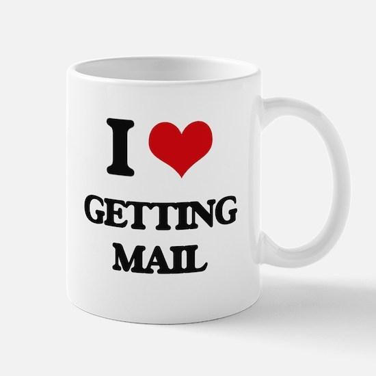 getting mail Mugs