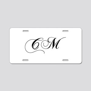 CM-cho black Aluminum License Plate