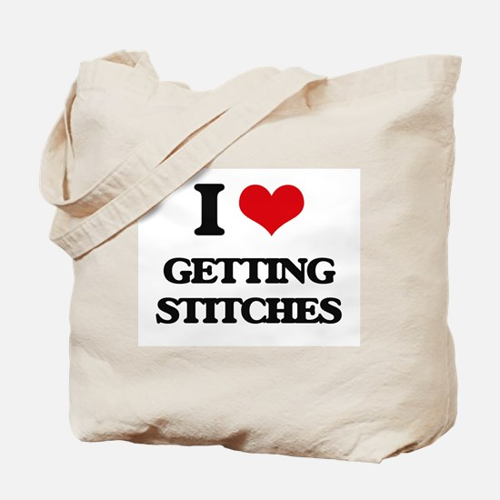getting stitches Tote Bag