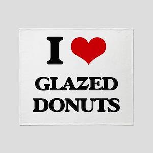 glazed donuts Throw Blanket