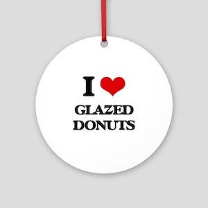 glazed donuts Ornament (Round)