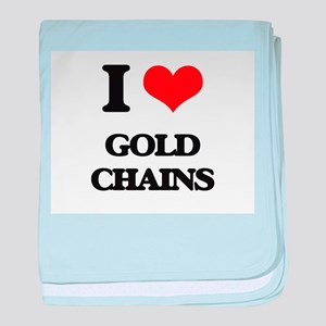 gold chains baby blanket