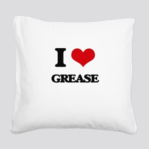 grease Square Canvas Pillow