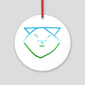 Aqua Anime Cat Ornament (Round)