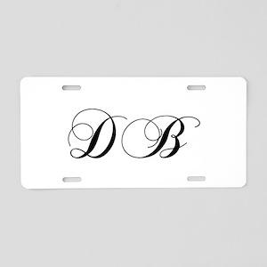DB-cho black Aluminum License Plate