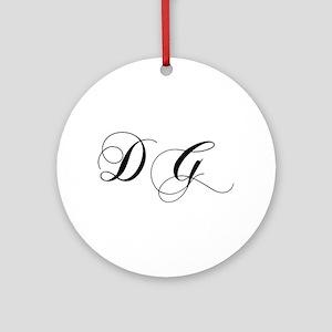 DG-cho black Ornament (Round)