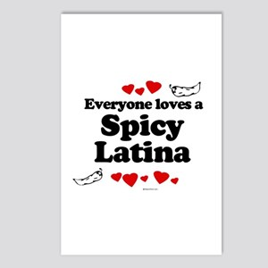Everyone loves a spicy latina Postcards (Package o