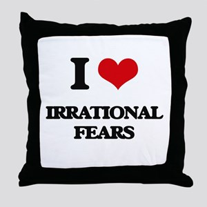 irrational fears Throw Pillow