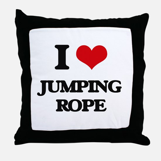 jumping rope Throw Pillow
