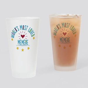 World's Most Loved Memere Drinking Glass