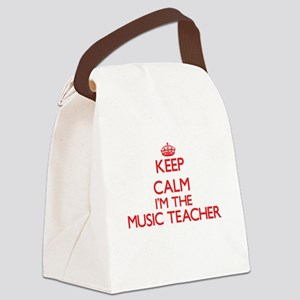 Keep calm I'm the Music Teacher Canvas Lunch Bag