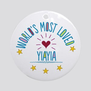 World's Most Loved Yiayia Ornament (Round)
