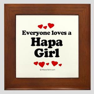 Everyone loves a Hapa girl Framed Tile