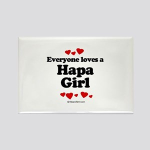 Everyone loves a Hapa girl Rectangle Magnet