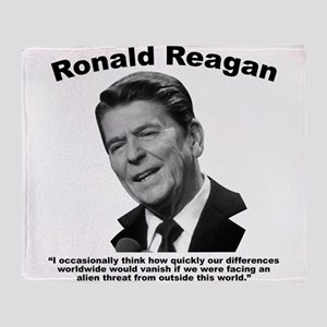 Reagan: Aliens Throw Blanket