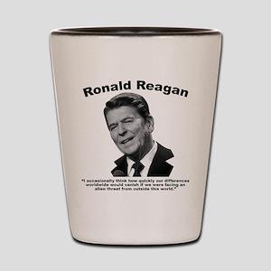 Reagan: Aliens Shot Glass