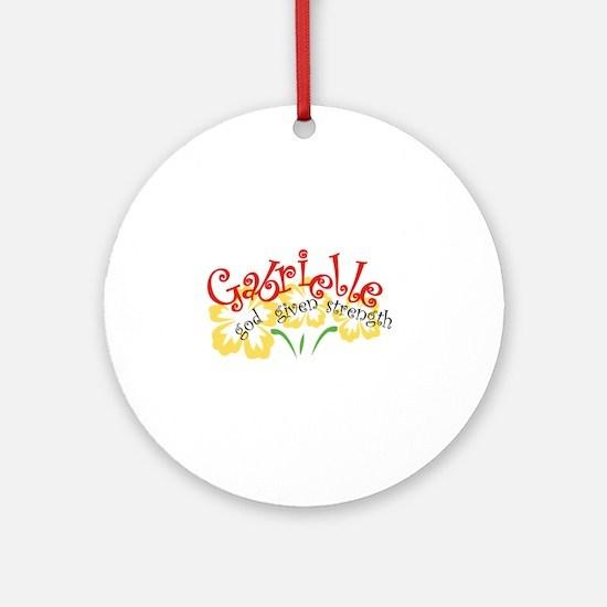 Gabrielle Ornament (Round)