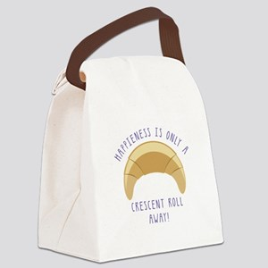 Crescent Happiness Canvas Lunch Bag