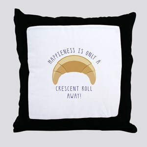 Crescent Happiness Throw Pillow