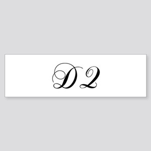 DQ-cho black Bumper Sticker