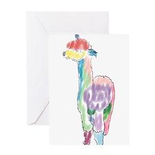 handpainted alpaca Greeting Cards
