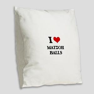 matzoh balls Burlap Throw Pillow