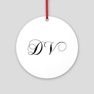 DV-cho black Ornament (Round)