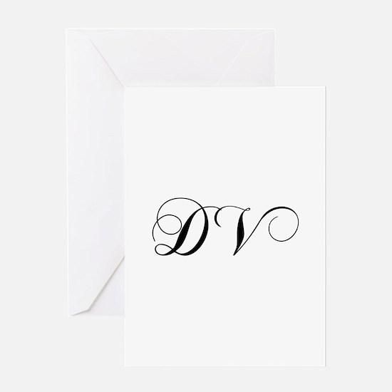 DV-cho black Greeting Cards