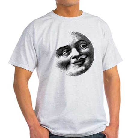 Antique Man in The Moon Face T-Shirt