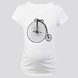 Antique Penny Farthing Bicycle Maternity T-Shirt