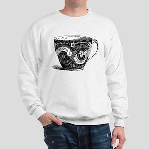 Fancy Victorian China Porcelain Teacup Sweatshirt