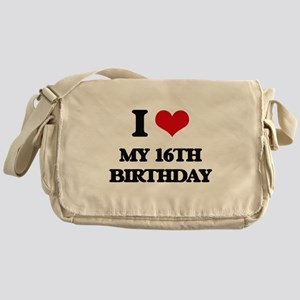 my 16th birthday Messenger Bag