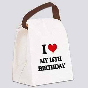 my 16th birthday Canvas Lunch Bag
