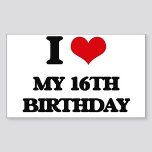 my 16th birthday Sticker