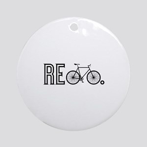 Re Bicycle Ornament (Round)