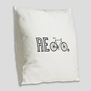 Re Bicycle Burlap Throw Pillow