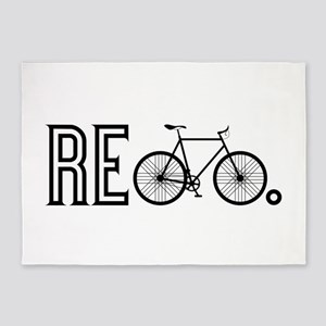 Re Bicycle 5'x7'Area Rug