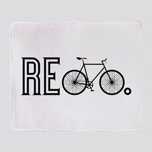 Re Bicycle Throw Blanket