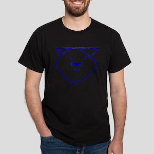 Blue Anime Cat Dark T-Shirt
