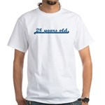 28 years old (sport-blue) White T-Shirt