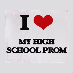 my high school prom Throw Blanket