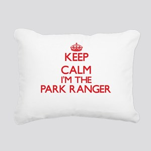 Keep calm I'm the Park R Rectangular Canvas Pillow
